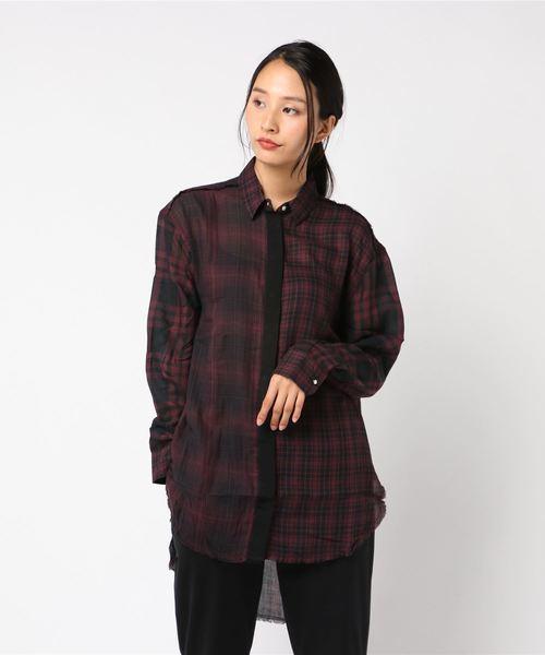 WOMEN'S チェックシャツ