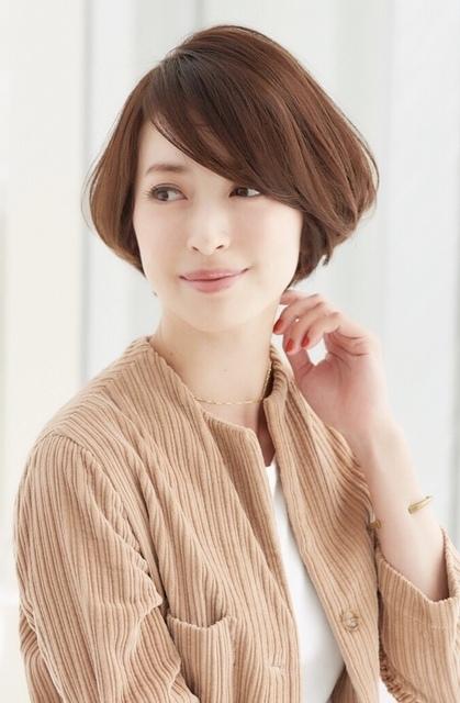 ひし形のショートヘア