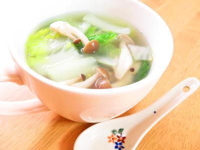 ほっこり♪白菜ときのこの生姜スープのレシピ
