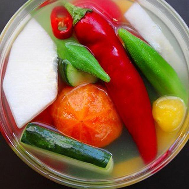 梨と野菜の水キムチ 自家製韓国唐辛子のレシピ