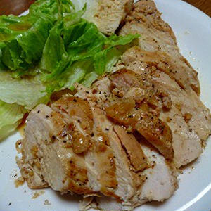 鶏胸肉のしっとり蒸し煮のレシピ