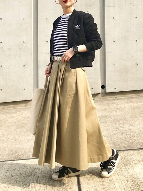 キルトジャケット×チノスカート