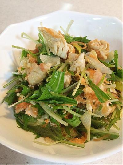 ささみと水菜のさっぱり梅サラダのレシピ