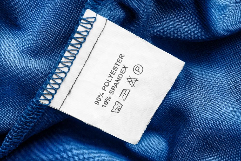 ポリエステル素材の洗濯表示