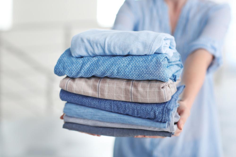 きれいになった洗濯もの