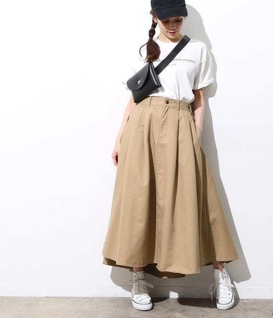 ViS(ビス)【WEB限定】チノボリュームスカート