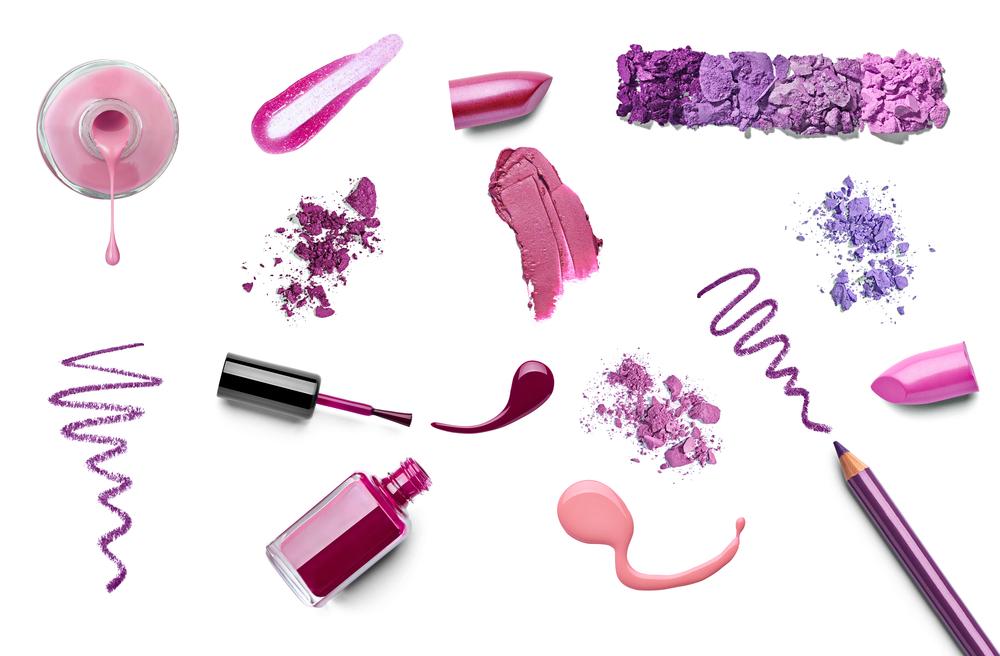 色々な紫系コスメ