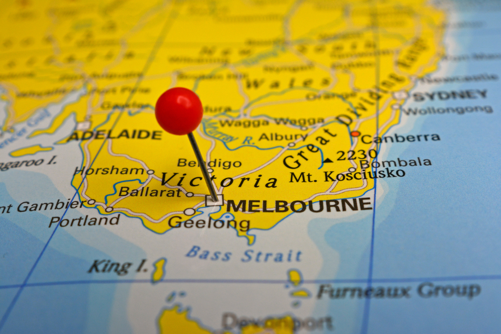 地図のメルボルン