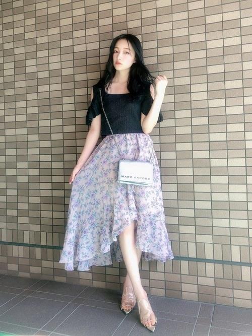 シャーベットカラースカート
