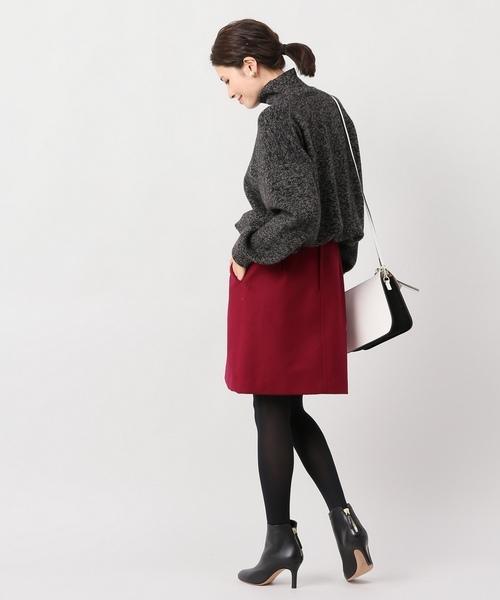 Wボタン台形スカート◆