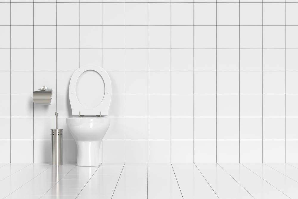 きれいに掃除されたトイレのタイル