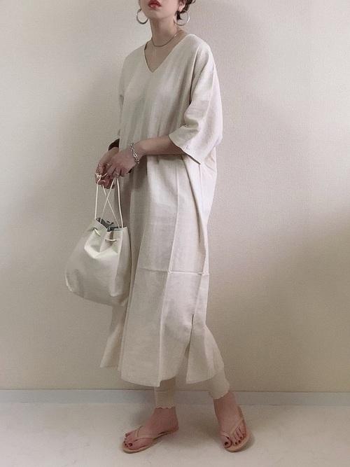 ワンピースを使った那須の服装