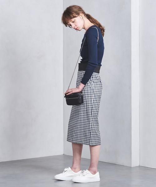 30代におすすめのギンガムチェックのスカートを使った春コーデ