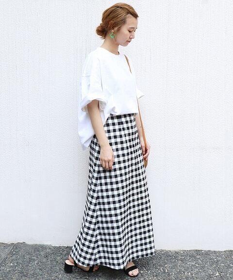 20代におすすめのギンガムチェックのスカートを使った春コーデ