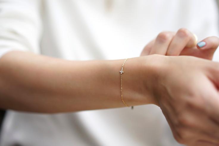 RAPA baby cross dia bracelette