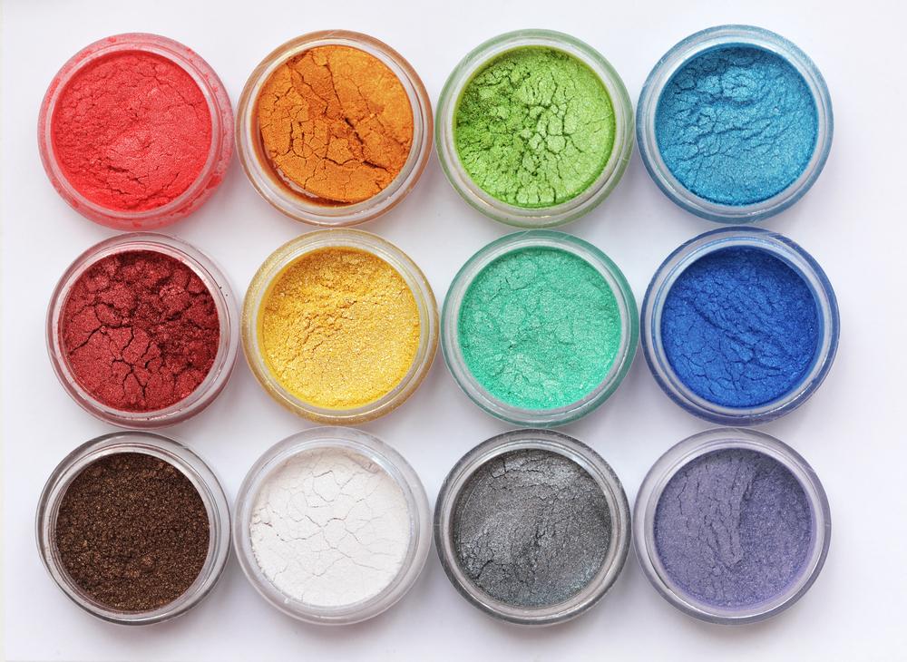 色々なカラーの粉