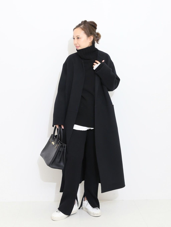 ロングコートのおすすめ冬コーデ