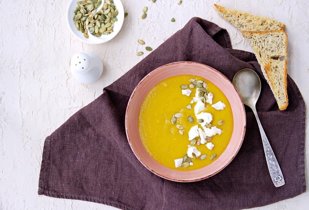 ダイエットで主食とかぼちゃスープを置き換え