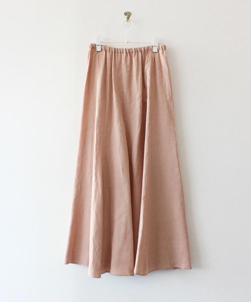ピンクベージュスカート