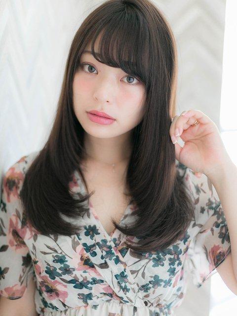 黒髪×ワンカールヘア