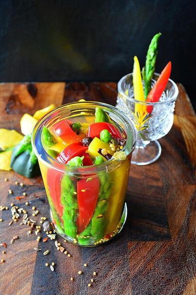 夏色爽快 夏野菜ピクルス #金魚の肴 #tapasのレシピ