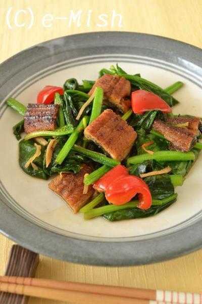 うなぎとほうれん草の生姜炒めのレシピ