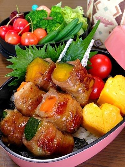 夏野菜の串焼きです☆のレシピ