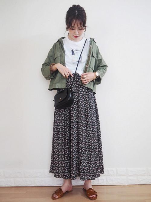 ミリタリージャケットを使ったグアテマラの服装