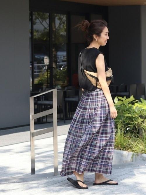 フレアスカートを使ったグアテマラの服装