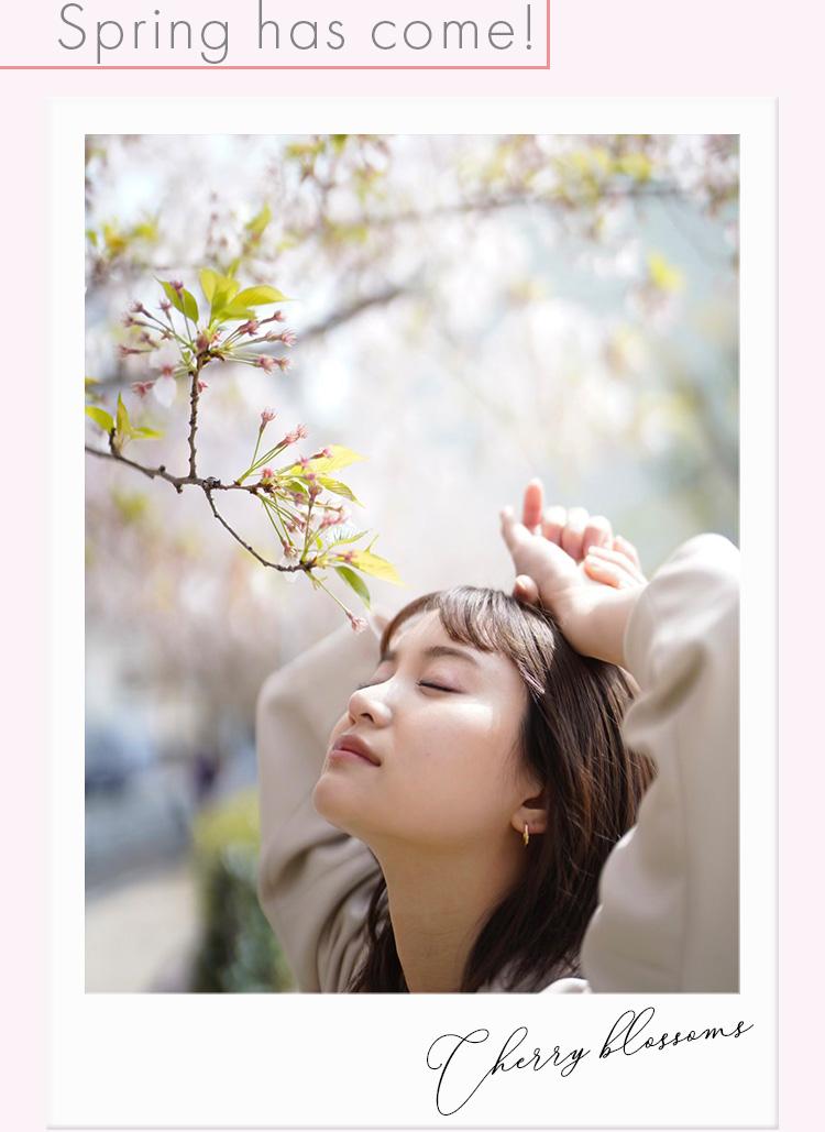 永尾まりやと桜