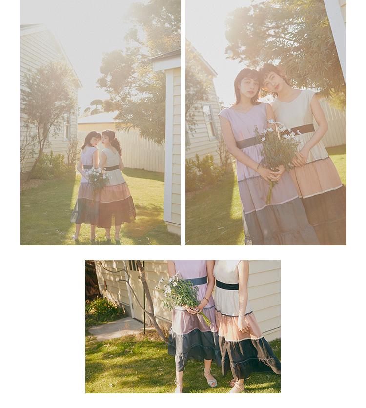 玖瑠実と蒼葉える リブニットとプリーツスカートがドッキング