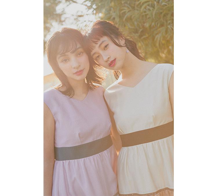 玖瑠実と蒼葉える 双子コーデ