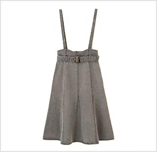 デニムマーメイドジャンパースカート