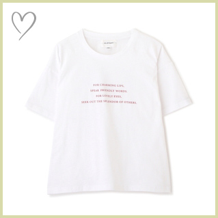 バックフラワープリントTシャツ