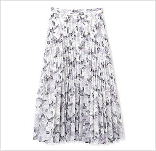 ヘイジープリントスカート