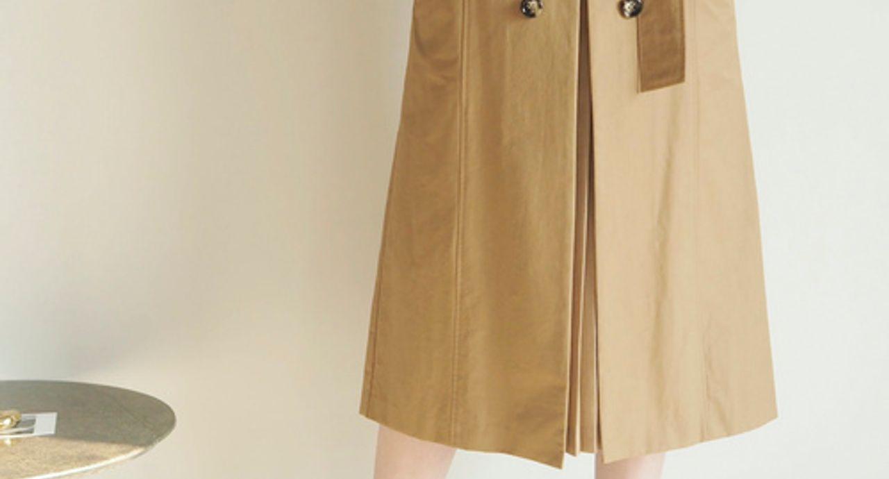 トレンチスカートで秋コーデを上品に!季節感のある着こなしのヒント