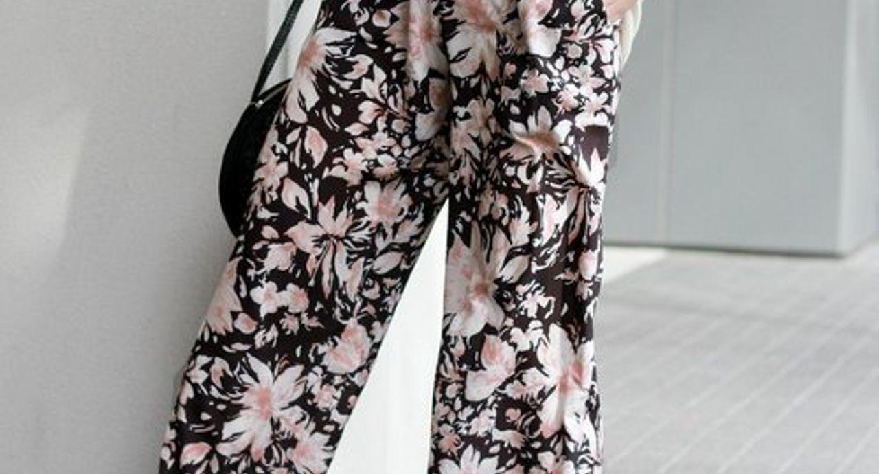 花柄パンツの大人可愛いコーデ集!種類別・季節別コーデ9選