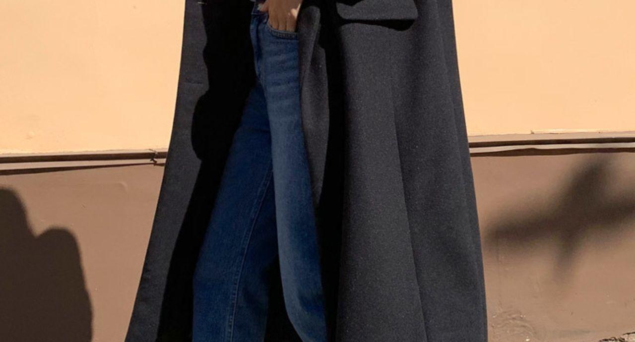 黒ロングコートのコーデは油断禁物!ダサ見えを回避しておしゃれ見せ