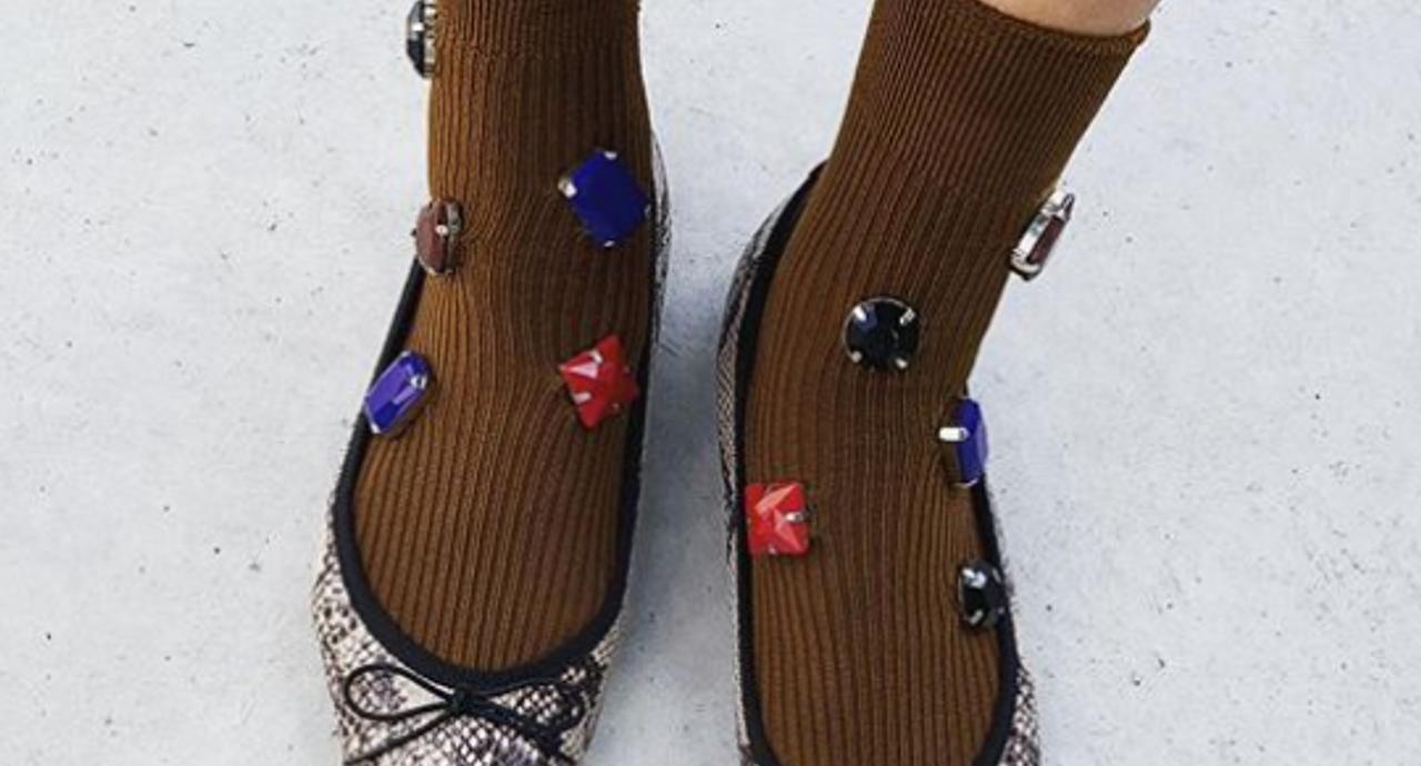 バレエシューズ×靴下は相思相愛!男性ウケも上々のコーデレッスン