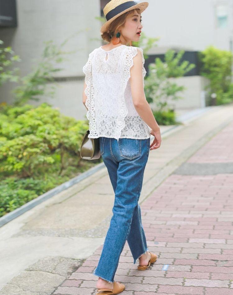透け感にキュン♡華やぎ「レース」のお出かけ夏スタイル