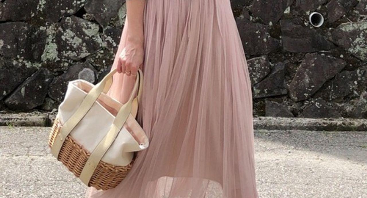 チュールスカートを使った春コーデ9選!おすすめの色別にご紹介
