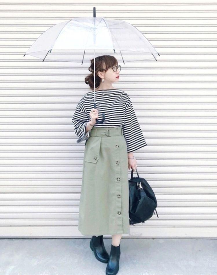 【2018年】レインブーツのおしゃれコーデ。雨の日も可愛い服装を
