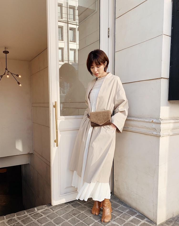 出岡美咲がトレンド満載のアウターコーデ×お気に入りメイクを公開!