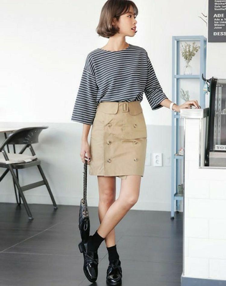 トレンチスカートを使った夏コーデ特集!こなれ感のある着こなしテク