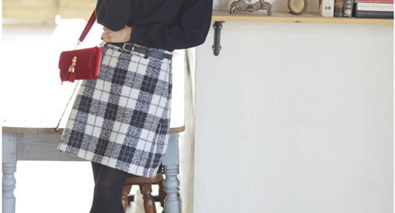 台形スカートの大人コーデ術。季節別におしゃれな着こなしをご紹介