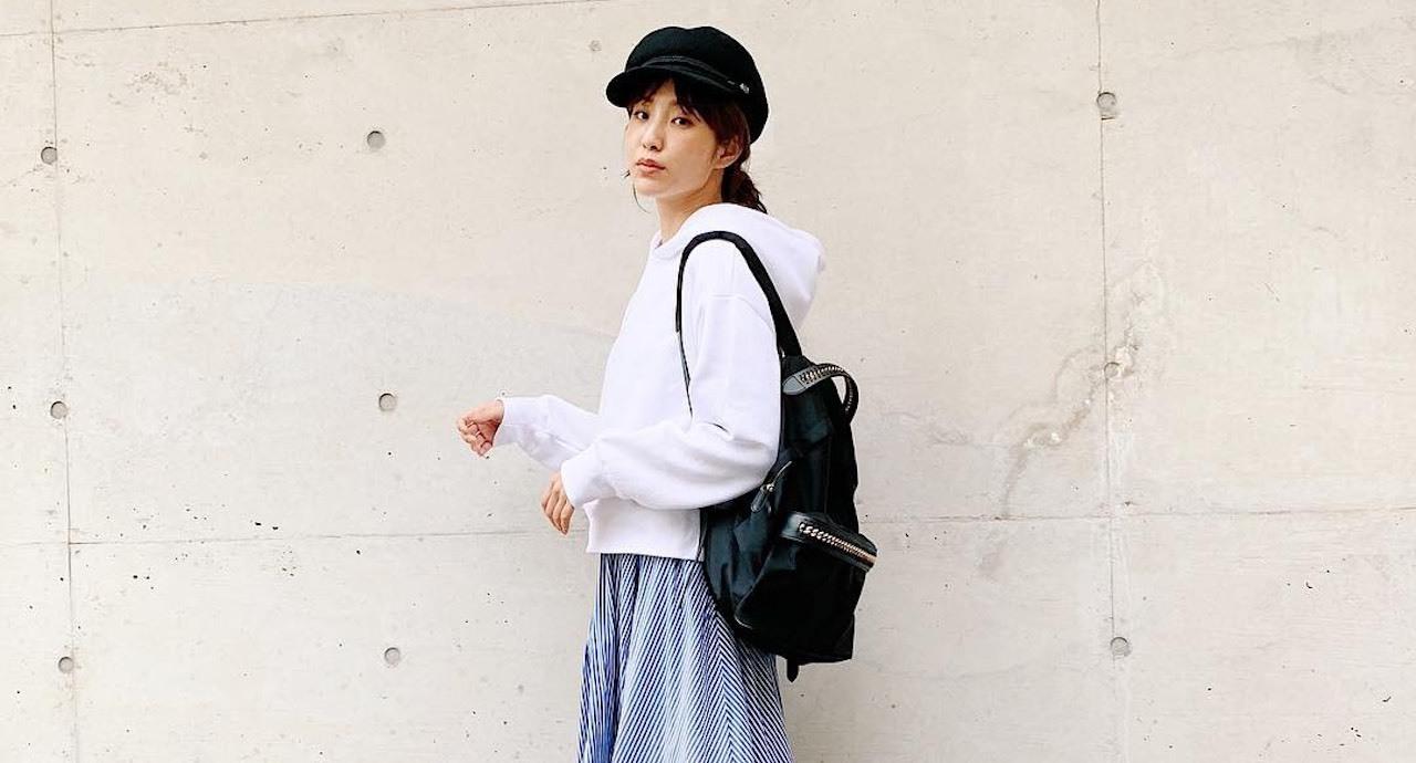 出岡美咲の大人っぽカジュアルな秋私服&最近の定番メイクを公開!