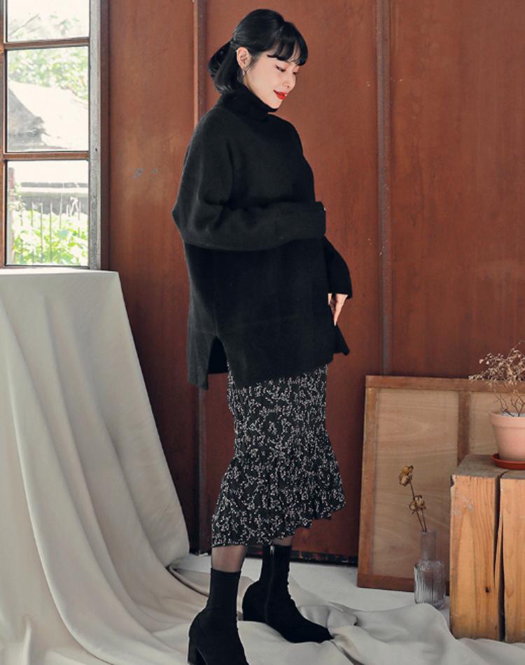 黒タートルニットのおしゃれコーデ9選!おすすめファッションを解説