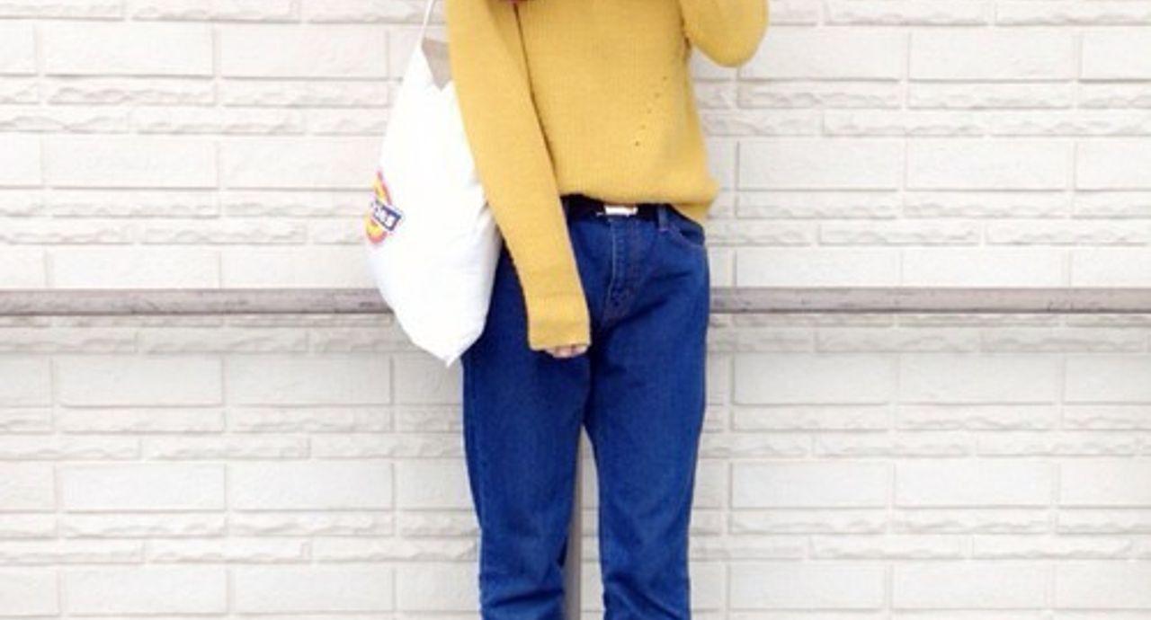 今こそ着たい黄色ニット。おしゃれ配色のコーディネート大図鑑