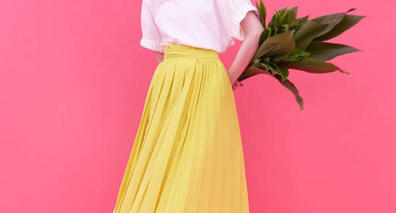 イエローのスカートのコーデ術!冬、春など季節別にご紹介