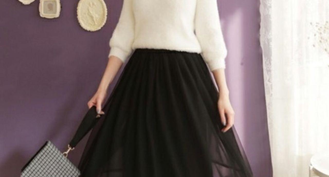 黒のチュールスカートで大人レディなコーデへ!季節別の着こなし方